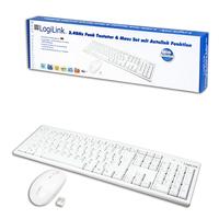 LogiLink Keyboard Mouse Combo wireless (Weiß)