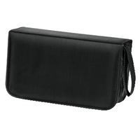 Hama CD Wallet Nylon 120, black (Schwarz)
