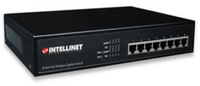 Intellinet 8-Port PoE+ Desktop Gigabit Switch (Schwarz)