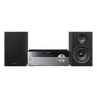 Sony CMT-BT100B All-in-One Audiosystem mit kabellosem Streaming (Schwarz, Silber)