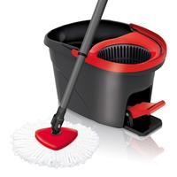 Vileda EasyWring & Clean Spin (Schwarz, Rot)