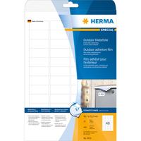 HERMA Etiketten A4 Outdoor Klebefolie 45.7x21.2 mm weiß extrem stark haftend Folie matt wetterfest 480 St. (Weiß)