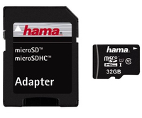 Hama 32GB microSDHC (Schwarz)