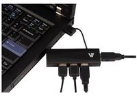 V7 High Speed USB Hub 4 Ports (Schwarz)