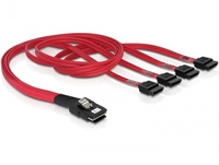 DeLOCK Cable mini SAS 36pin to 4x SATA (Rot)