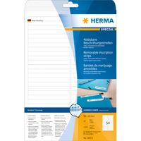 HERMA Ablösbare Beschriftungsstreifen A4 96x10 mm weiß Movables/ablösbar Papier matt 1350 St. (Weiß)