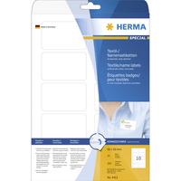HERMA Namens-/Textiletiketten A4 80x50 mm trennbar weiß ablösbar Acetatseide 250 St. (Weiß)