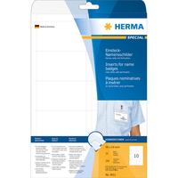 HERMA Namens-Einsteckschilder A4 90x54 mm weiß Karton nicht klebend 250 St. (Weiß)