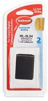 Hahnel HL-2L24 Wiederaufladbare Batterie / Akku (Schwarz)