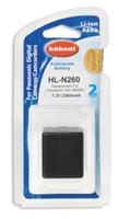 Hahnel HL-N260 Wiederaufladbare Batterie / Akku (Schwarz)