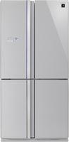 Sharp SJ-FS820VSL Side-by-Side-Kühlschrank (Silber)