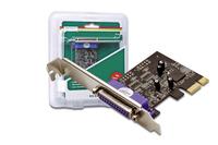 Digitus PCIe, Parallel interface card (Schwarz)
