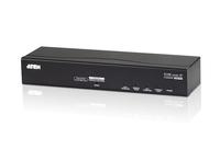 Aten CN8600 Tastatur/Video/Maus (KVM) Switch (Schwarz)