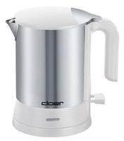 Cloer 4891 Wasserkocher (Edelstahl, Weiß)