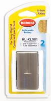 Hahnel HL-XL581 Wiederaufladbare Batterie / Akku (Grau, Weiß)