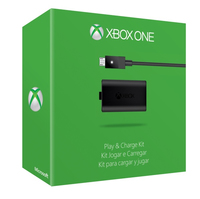 Microsoft Xbox One Play & Charge Kit (Schwarz)