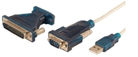 LogiLink Adapter USB 2.0 to serial 9+25 pin (Weiß)