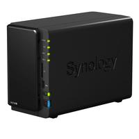 Synology DS214+ Speicherserver (Schwarz)