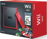 Nintendo Wii Mini + Mario Kart Wii (Schwarz, Rot)