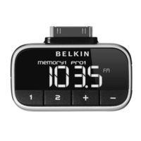 Belkin Compact & stylish click-in FM transmitter for iPod (Schwarz)