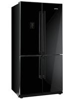 Smeg FQ60NPE Side-by-Side-Kühlschrank (Schwarz)