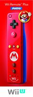 Nintendo Wii Remote Plus - Mario (Rot)