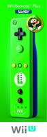 Nintendo Wii Remote Plus - Luigi (Grün)