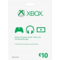 Microsoft Xbox LIVE 10 Euro Karte
