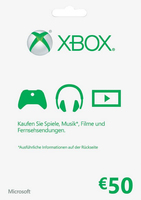 Microsoft Xbox LIVE 50 Euro Karte