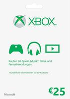 Microsoft Xbox LIVE 25 Euro Karte