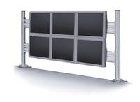 Newstar LCD/LED/TFT-Toolbar-Tischhalterung (Silber)