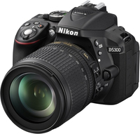 Nikon D5300 + AF-S DX NIKKOR 18-105mm SLR-Kamera-Set 24.2MP CMOS 6000 x 4000Pixel Schwarz (Schwarz)