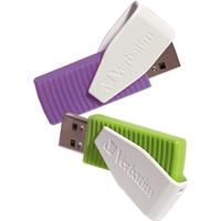 Verbatim 98425 USB flash drive (Grün, Violett, Weiß)