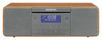 Sangean DDR-47BT Radio (Grau, Walnuss)