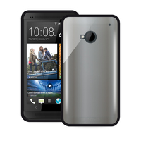 PURO Htc One Clear Cover (Schwarz)