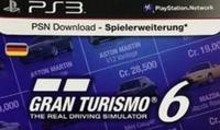 Sony Gran Turismo 6 livecard 20 euro