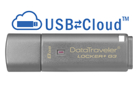 Kingston Technology DataTraveler Locker+ G3 8GB 8GB USB 3.0 Silber USB-Stick (Silber)