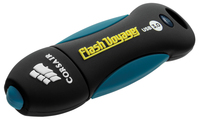 Corsair 128GB Voyager V2 128GB USB 3.0 Schwarz, Blau USB-Stick (Schwarz, Blau)