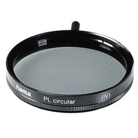 Hama Polarising Filter Circular, 62,0 mm, Coated, Black (Schwarz)
