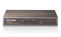 TP-LINK 8-port 10/100 PoE Switch (Schwarz)