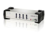 Aten CS1734B Tastatur/Video/Maus (KVM) Switch (Silber)