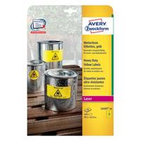 Avery L6107-20 selbstklebendes Etikett (Gelb)