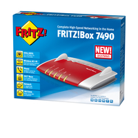 AVM FRITZ!Box 7490 A/CH (Rot, Silber)