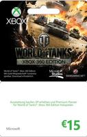 Microsoft Xbox Live Branded 15 EURO World of Tanks