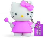 Tribe Hello Kitty 4GB 4GB USB 2.0 Weiß USB-Stick (Pink, Weiß)