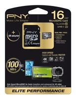 PNY 16GB MicroSD (Schwarz, Weiß)