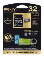 PNY 32GB MicroSD (Schwarz, Weiß)