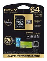 PNY 64GB MicroSD (Schwarz, Weiß)