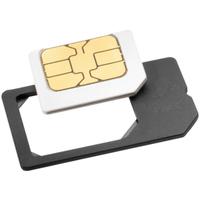 ISY ISA 1000 SIM-/Speicher-Karten-Adapter (Schwarz)