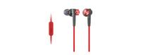 Sony MDR-XB50AP (Schwarz, Rot)